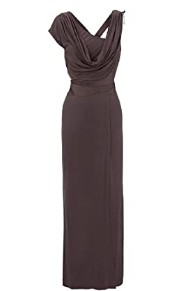 Draped Jersey Maxi Dress