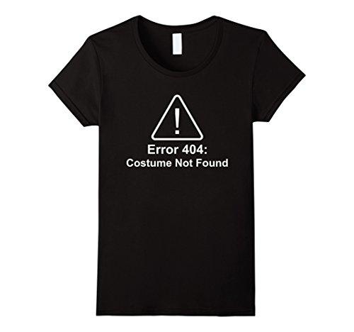 [Women's Error 404 Costume Not Found Halloween Costume Large Black] (Costume Not Found 404)