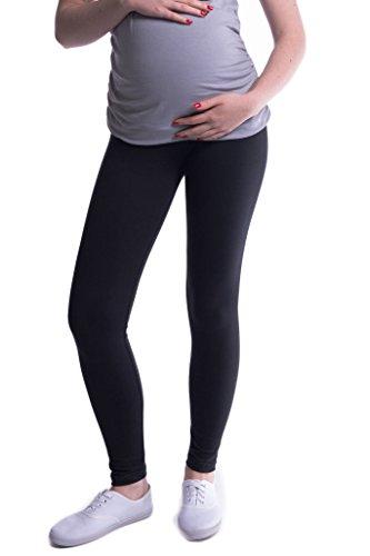 Oasi - Gute Qualität Umstandsleggings für Schwangere Lange Leggings / Hose 3085 (M, Schwarz)