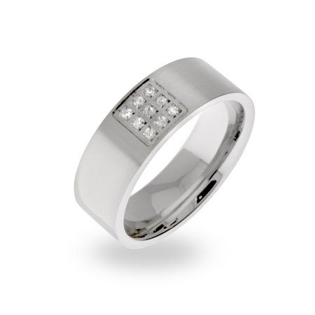 Mens Designer Style Comfort Fit Stainless Steel Wedding Band Size 12 (Sizes 11 12 Available)