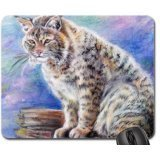 bobcat-drawing-mouse-pad-mousepad-cats-mouse-pad
