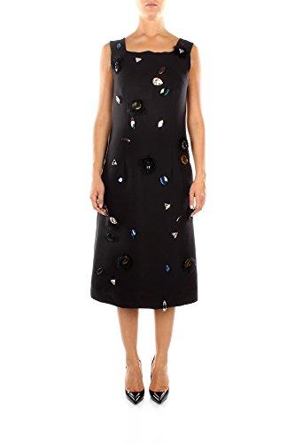 580726P780NOC01-Cline-Robes-Femme-Soie-Noir