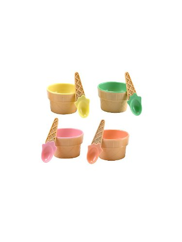 Fun Express 3L-26-2047 Plastic Ice Cream Dishes, 12-Pack (Ice Cream Cone Plastic compare prices)