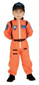 Astronaut (Orange) Child Costume Size 2T-4T Toddler