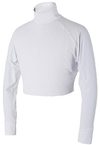 99.3% UVカット メンズ ショート丈 日焼け防止 吸汗 疲労軽減 アンダーシャツ バイク 釣り テニス ゴルフ ランL白L