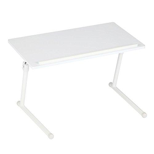 サイドテーブル pc ベッド ソファー ノートPC デスク 昇降 テーブル 折りたたみ 折り畳み ホワイト