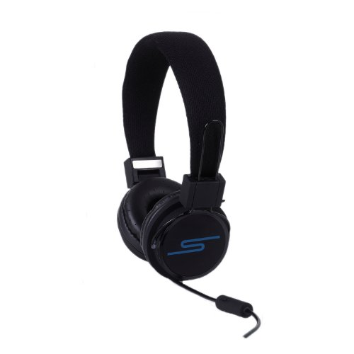 "Soulbuddy ""S-Type"" Headphone : Stylish Headphone/Iphone Microphone Headset For Phone & Pc [Black]"