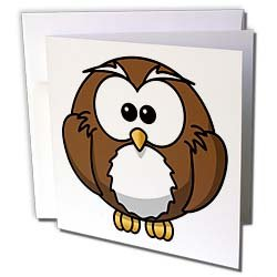 Florene Childrens Art - Cute Baby Cartoon Owl