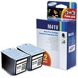 Brand New. Samsung Fax Inkjet Cartridge Black [for SF-370/SF-375TP] Ref INK-M41V/ELS [Pack 2]