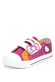 Hello Kitty Riptape Spotted Trainers