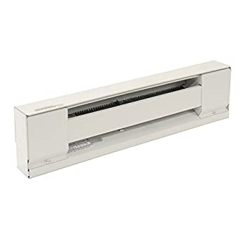 """TPI H2903024SW Series 2900S Electric Baseboard - Stainless Steel Element Convection Heater, 24"""" L x 6"""" H x 2-1/2"""" D, 240 / 208 V, White"""
