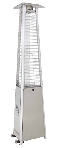 AZ Patio Heaters HLDS01-CGTSS Commercial Stainless Steel Glass Tube Patio
