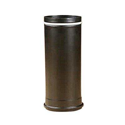 Rauchrohr, Ofenrohr Pellet-Rohr 0,25m schwarz-matt 80 ø 0,6mm stark