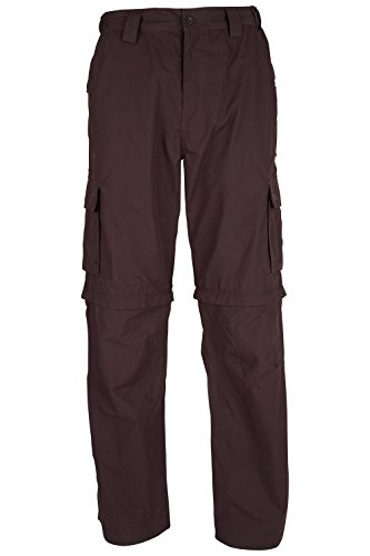 Mountain Warehouse Pantalones desmontables Trek para hombre Marron 54