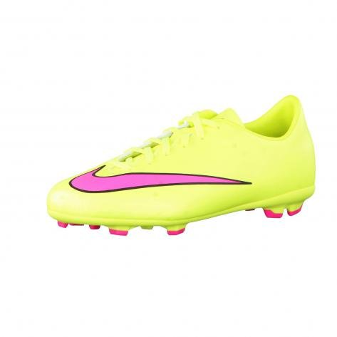 NIKE JUNIOR MERCURIAL VICTORY V FG- (VOLT/HYPER PINK-BLACK) (3.5y) (Nike Boys Vapor Elite compare prices)
