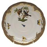 Herend Rothschild Bird Brown Tea Saucer Motif #12