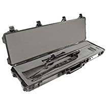 Pelican 1750 NF Black Watertight Protector Gun Case No Foam w/Wheels 1750-001-110