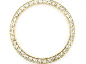 Men 2ct Bead Set Diamond Bezel 14ky for Rolex 34mm Case