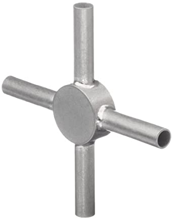 STC-09/4 Stainless Steel Hypodermic Tubing Connector , 9 Gauge, 4-Way (Pack of 5)