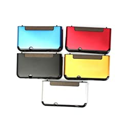 Aluminium Metal Scrub Protective Shell Case Protector For New Nintendo 3DS - Red