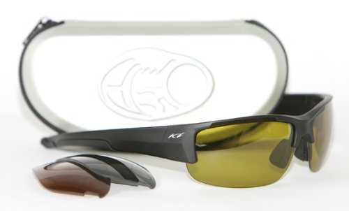 H3o Ice Angler Fishing Sunglasses with 3 Replaceable Polarized Lenses