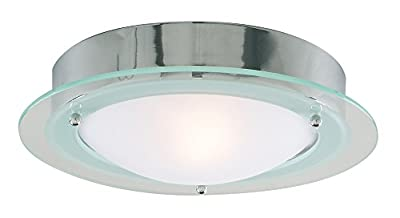 Contemporary IP44 Bathroom Chrome Ceiling Light Fitting by Haysom Interiors