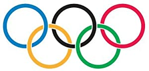 10 Large Olympic Ring Temporary Tattoos
