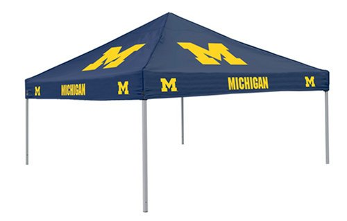 Ncaa Michigan Wolverines 9-Foot X 9-Foot Tailgating Canopy, Navy front-906913