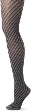 Steve Madden Legwear Womens Diagonal Stripe Tight