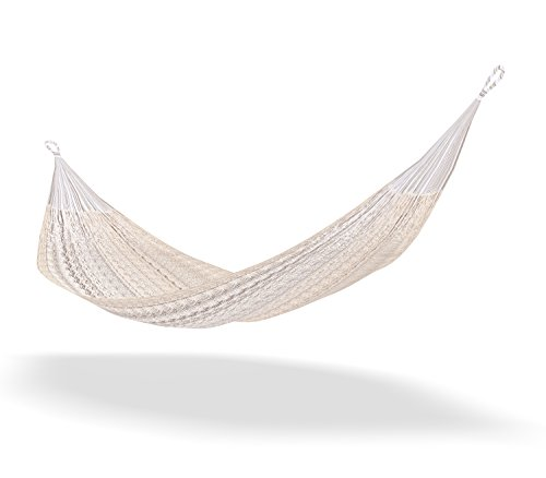 Mexican Hammock By Silishape Hammocks ★ 100% Certified Handwoven By Mayan Indians • Deluxe Single, Double Or Family Size Swing • Ultra Resistant Support Up To 770 Lbs • Perfect Hanging Bed With Thick Rope For Outdoor Or Indoor Stand • Portable For Camping front-284620
