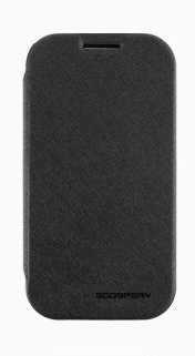 Note3 Case, Mercury Fancy Flip Style Diary Case For Samsung Galaxy Note3 (6 Colors) Wallet Style (At&T, Verizon, Sprint, T-Mobile) - Retail Packaging (Black)