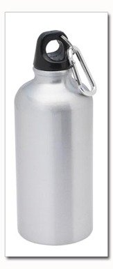 Maxam Aluminum Sports .5 Liter Water Bottle with clip