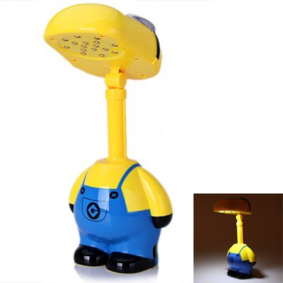 Best Brand Flexible 16 Led Light 3D Cartoon Minoins With Smiling Face Table Desk Lamp White Light With Usb Plug