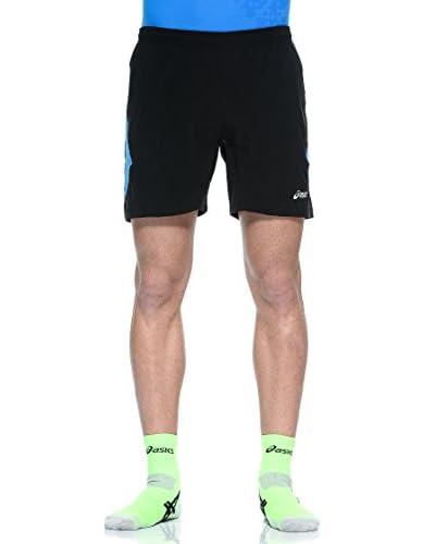 Asics Shorts Pace 7 Woven [Nero/Blu]