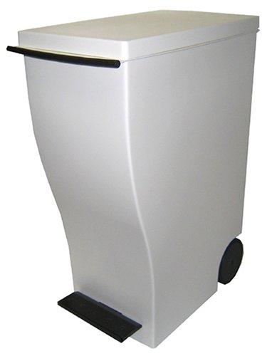 I'mD(アイムディ) ゴミ箱 キャスター付 Kcud クード スリムペダル ブラウン 33L KUD30BR