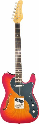 Jay Turser Lt Series Jt-Ltcrusdlx-Cs Semi Hollow-Body Electric Guitar, Cherry Sunburst