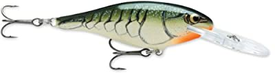 Rapala Shad Rap 07 Fishing Lure 275-inch Olive Green Craw from Rapala