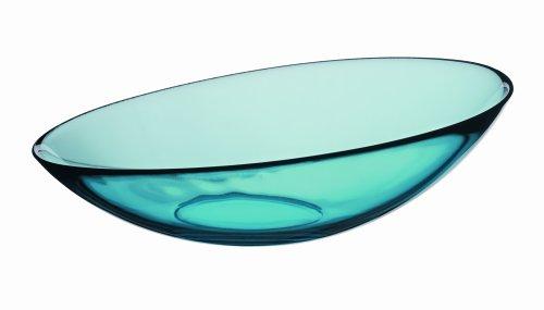 Orrefors Mingle Medium Bowl, 10-3/8-Inch, Turquoise