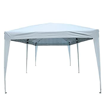 Outsunny Easy Pop Up Canopy Party Tent, 10 x 20-Feet, White