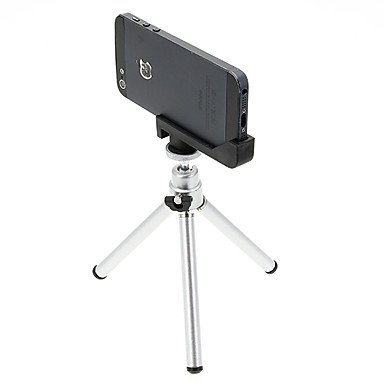 Flash-Ddlmini Desktop Aluminum Tripod With Double-Deck Three Sections & & Iphone 5S/5 Tripod Mount Holder