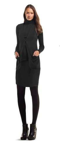 MAXSTUDIO SILK & COTTON BROADCLOTH PENCIL SKIRT BLACK, 12 Image