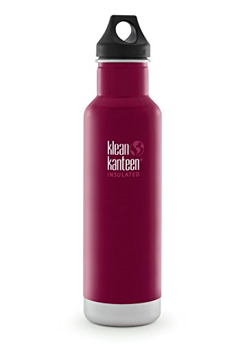 KLEAN KANTEEN CLASSIC 592ML WATER BOTTLE WITH LOOP CAP (BEET ROOT)