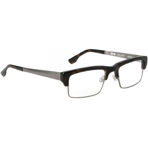 Spy Optic Flint Rx Eyeglasses - Spy Optic Adult Rx Prescription Frame - Classic Tortoise/Gunmetal / Size 51-18-145 front-154403