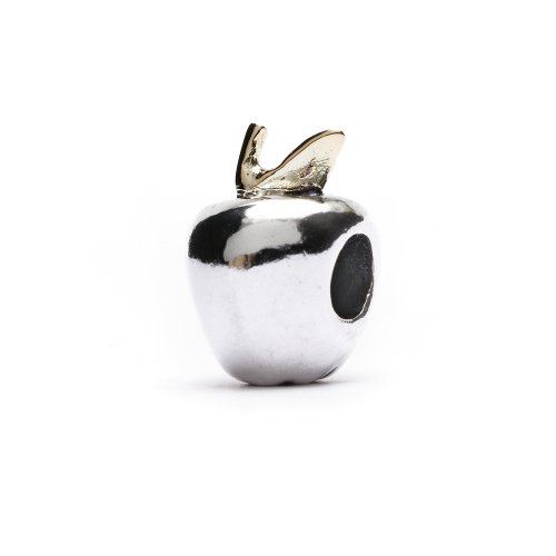 Authentic Novobeads Silver & 14K Gold 3601 Apple, Silver with 14K Gold