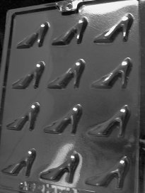 BITE SIZE HIGH HEEL SHOES Dads and Moms Candy Mold Chocolate