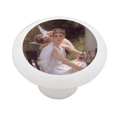 Work Interupted By Bouguereau Decorative High Gloss Ceramic Drawer Knob front-934930