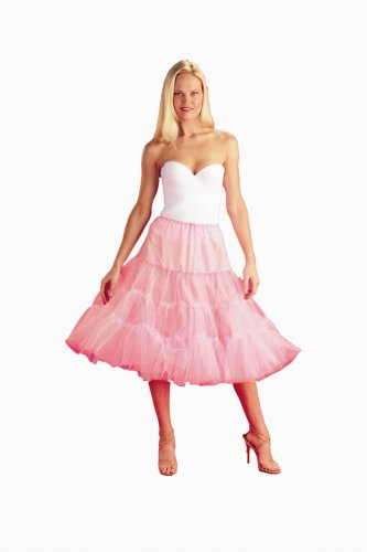 New Pink Poodle Skirt Bridal Petticoat Crinoline Wedding Gown Slip (108DSPP)