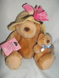 "Expressions From Hallmark Plush ""Bearnadette & Baby Fuzzmore"" 8 Inches Tall"