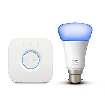 philips hue mini starter kit with 10 watt b22 bulb white. Black Bedroom Furniture Sets. Home Design Ideas