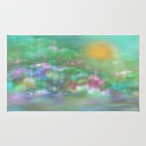 Amazon.com - Society6 - Landscape In Pastel Colors Rug by Klara Acel -